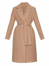 $2,000 HELMUT LANG Shaggy Alpaca Wool Camel Coat with Tie Belt Size Small New