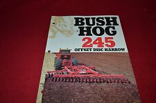 Bush Hog 245 Offset Disc Harrow Dealer's Brochure YABE7