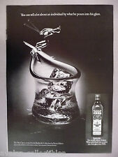 "Old Bushmills Irish Whiskey PRINT AD - 1977 ~Henry Halem created ""Skier"" glass"