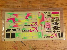 LZ-3 Decal Sheet (Partial) - Kyosho Lazer Alpha