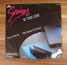 "12"" LP Vinyl Survivor - Is this Love - can´t let you go MAXI"