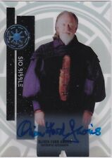 STAR WARS 2015 TOPPS HIGH TEK 54 OLIVER FORD DAVIES AS SIO BIBBLE AUTOGRAPH V1