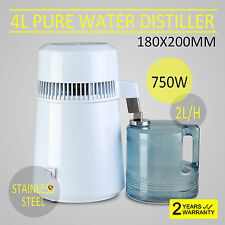110v Dental/Medical 4L Stainless Steel Water Distiller Pure Purifier Filter