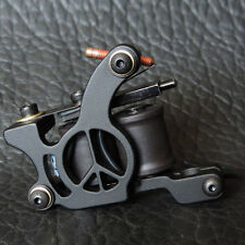 New Casting Carbon Steel Frame 10 Wrap Coil Shader Tattoo Machine Gun Black US