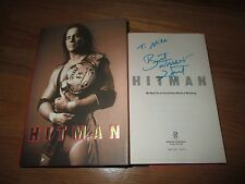BRET HART signed HITMAN My Real Life in the World of Wrestling 2008 Book To Mike