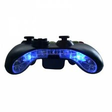 Custom Xbox 360 Pre-Wired LED Bottom Bumper Bar Mic Plate Insert Mod Kit (Blue)