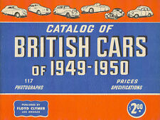 Catalog Of British Cars Of 1949 1950 Booklet 1949