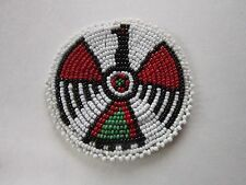 "3"" GLASS BEADED THUNDERBIRD ROSETTES TRIBAL NATIVE CRAFTS  REGALIA POW WOW 9C"