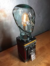 Industrial steampunk Gumball edison lamp Glass Atomic Art Mid Century Machine 50