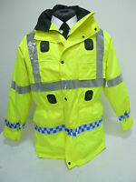 Waterproof & Breathable EX Police Hi Vis Viz Jacket Coat with Liner & Hood MU01