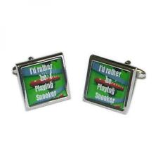 I'd Rather be Playing Snooker Game Pool Player CUFFLINKS Birthday Present