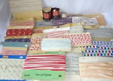 HUGE LOT 23 Vtg Antique Sewing Trim 280 Yards Silk Cotton Rayon Novelty UNUSED