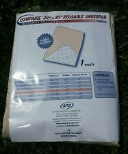 """NEW washable incontinence bed pad quilted waterproof chux 34""""x36"""" Underpad Hosp"""