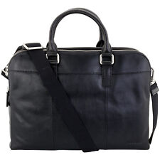 Fossil Black Leather Messenger Men's Handbag MBG9063001