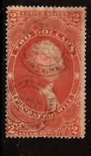 US #R83c ~  Free Shipping ~ $2 PROBATE OF WILL [1873] w/Circular Bank Handstamps