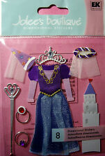NEW 8 pc LITTLE PRINCESS Dress-Up Costume Veil Tiara Gown JOLEE'S 3D Stickers