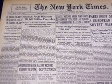 1947 JULY 14 NEW YORK TIMES - MUSEUM FINDS DINOSAURS 200 MILLION YEARS - NT 1410