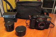 Vintage Canon Camera with Telephoto Lens & Wide Angle Lens 35mm Auto Focus