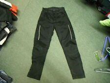 "Hein Gericke Waist 31"" Small Mens Black Textile Motorbike Trousers"