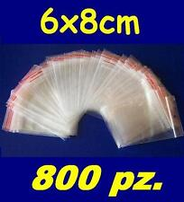 6x8 cm buste bustine zip plastica SACCHETTI 800 pz.