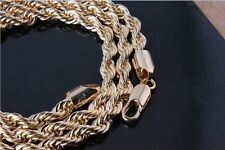 NEW - LADIES GOLD PLATED ROPE NECK CHAIN