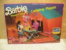 BARBIE VINTAGE WESTERN FUN CAMPING PLAY SET