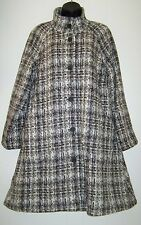 $229 J Jill Womens Size M Tweed Wool Alpaca Coat Winter Jacket Natural Brown New