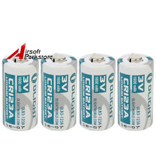 4pcs Olight CR123A 3.0V 1600mAh Rechargeable Battery For Flashlight Torch Camera