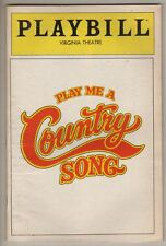 "Playbill   ""Play Me A Country Song""  PREVIEW  1982  FLOP   Broadway   PHOTOS"