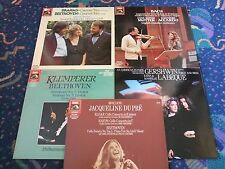 6 DIGITAL EMI LP's DU PRE ELGAR MEYER SCHIFF MUTTER ACCARDO KLEMPERER LABEQUE