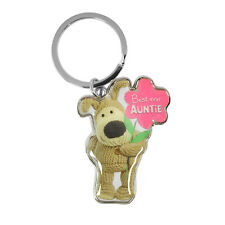 Boofle Best Ever Auntie Metallic Keyring Lovely Gift Idea Christmas Birthday