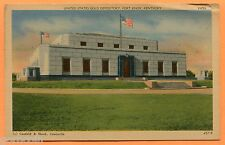 Fort Knox, KY, View of Gold Depository, Linen, circa 1940s