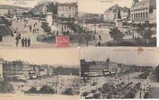Lot 4 cartes postales anciennes CLERMONT-FERRAND place de jaude 3