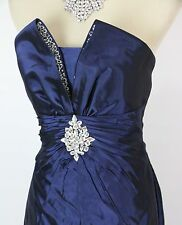 New Genuine Jovani 159459 Navy Strapless Homecoming Formal Women Gown Cocktail 2