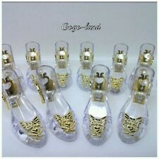 12 Clear Slippers Wedding Souvenir Favor Holders Plastic Shoes Gifts Remembrance