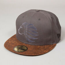 King Apparel Prestige New Era Casquillo Cabido-Carbón Gris/Marrón - 7 1/8 [nuevo]