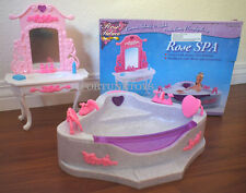 ROSE DOLLHOUSE FURNITURE SIZE SPA TUBE Mirror Stand PLAYSET (2613)