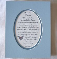 COUSIN Gift Beyond Compare GOD MADE Loyal Friends Loving verses poems plaques