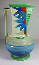 "SPLENDID MYOTT SON & CO ART DECO SQUARE NECKED JUG 9"" TALL"