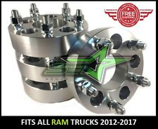 4 RAM 1500 WHEEL SPACERS 5X5.5 | 1.5 INCH THICK OR 38MM | 14X1.5 STUDS, 5X139.7