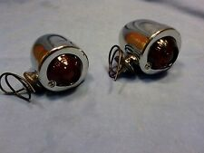 Bullet Signal Marker Lamp Set With Guide Glass Lens Red Panhead