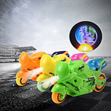 Wind-Up Motorcycle Boutique Toy + Light Projection Effect for Baby Kids Gift