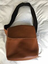 Jack Spade Port Case Mill Leather Messenger Bag in Tobacco, Ret $325