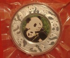 Shanghai Mint 2012 panda high relief silver platter color 150g china coin Medal