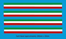 Italian Tricolore Stripes Bicycle Decal-Transfer-Sticker #5