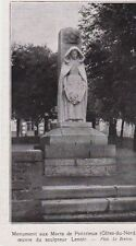 1925  --  MONUMENT AUX MORTS DE PONTRIEUX  SCULPTEUR LENOIR   3C569