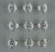 wholesale 5pcs NF 925 silver Plated hollow out Big Rings 6-8