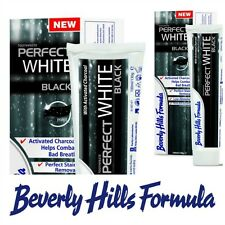 Beverly Hills Formula 130g Perfect White BLACK Charcoal Toothpaste Stains Breath