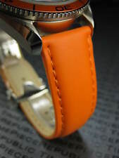 New OMEGA 20mm Rubber Strap Diver Watch Band Orange with Orange 20 mm