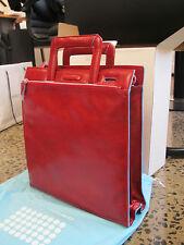 Piquadro Blue Square Red Organized Shopping bag w/ handle CA1632B2/R